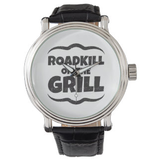 Roadkill en la parrilla - fiesta del Bbq divertido Reloj De Mano
