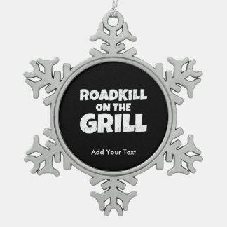 Roadkill en la parrilla - fiesta divertido del Bbq Adorno De Peltre En Forma De Copo De Nieve