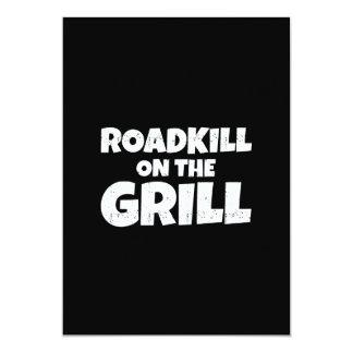 """Roadkill en la parrilla - fiesta divertido del Bbq Invitación 5"""" X 7"""""""