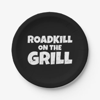 Roadkill on The Grill - BBQ Party Funny Paper Plate