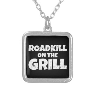 Roadkill on The Grill - BBQ Party Funny Silver Plated Necklace