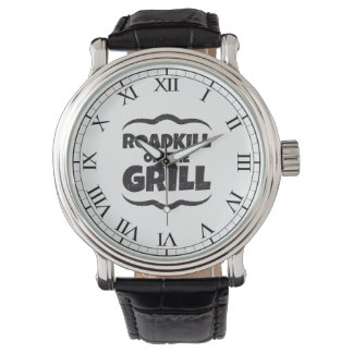 Roadkill on The Grill - BBQ Party Funny Wrist Watch