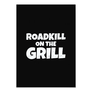 Roadkill on The Grill - Funny BBQ Party Card