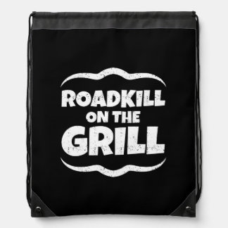 Roadkill on The Grill - Summer BBQ Party Drawstring Bag