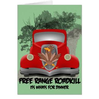 Roadkill para la tarjeta de la receta de la cena