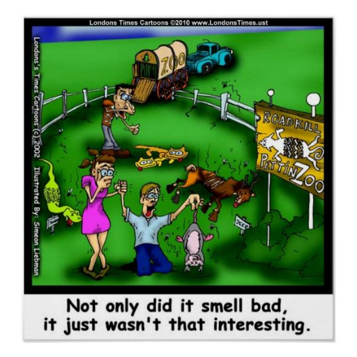 Roadkill Petting Zoo Funny Collectible Posters