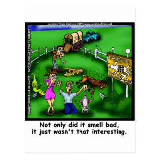 Roadkill Petting Zoo Funny Tees & Gifts Postcard