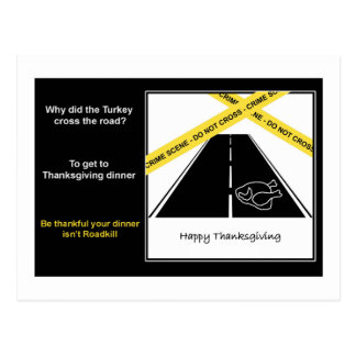 Roadkill Thanksgiving Postcard