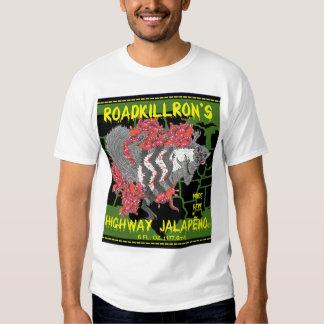 RoadkillRon's Jalapeno Hot Sauce Tshirts