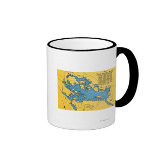 Roadmap of the Lake and Highways Ringer Coffee Mug