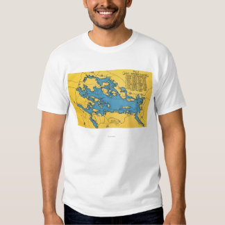 Roadmap of the Lake and Highways T-shirt