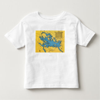 Roadmap of the Lake and Highways T Shirts