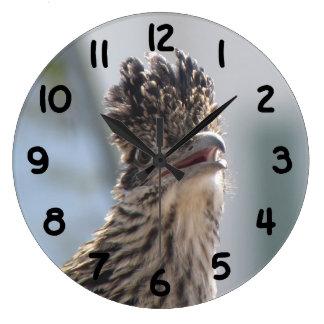 Roadrunner Close-up Large Clock