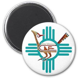 Roadrunner de New México Imán Redondo 5 Cm
