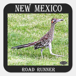 Roadrunner de New México Pegatina Cuadrada
