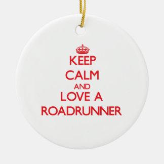 Roadrunner Double-Sided Ceramic Round Christmas Ornament