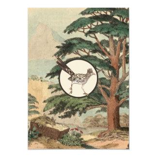 Roadrunner In Natural Habitat Illustration Card