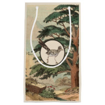 Roadrunner In Natural Habitat Illustration Small Gift Bag