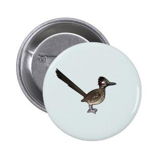 Roadrunner lindo de Birdorable Pin Redondo 5 Cm