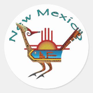 Roadrunner - New México Pegatina Redonda
