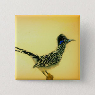 Roadrunner wearable art button