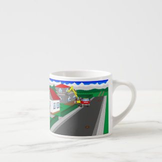 Roads and building of houses espresso cup