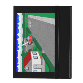 Roads and building of houses iPad case