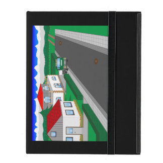 Roads and building of houses iPad cover