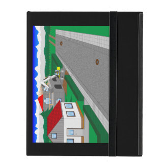 Roads and building of houses iPad covers