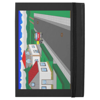 Roads and building of houses iPad pro case