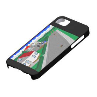 Roads and building of houses iPhone SE/5/5s case