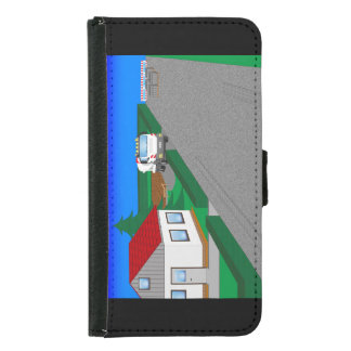 Roads and building of houses samsung galaxy s5 wallet case
