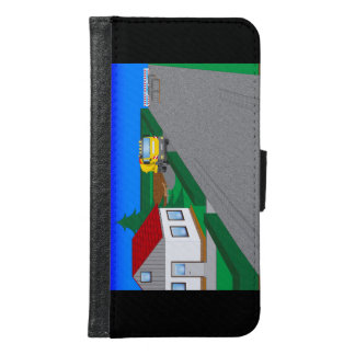 Roads and building of houses wallet phone case for samsung galaxy s6