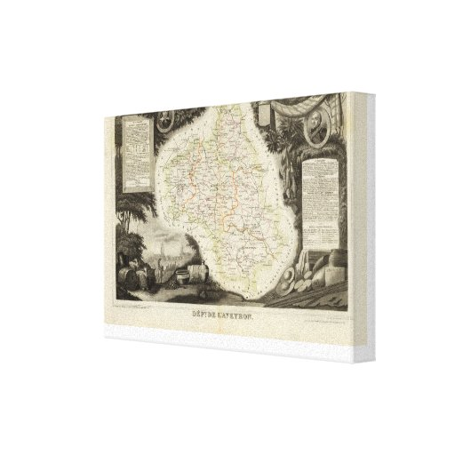 Roads, Towns, Cities Gallery Wrap Canvas