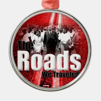 Roads We Traveled - Premium Round Ornament