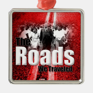 Roads We Traveled - Premium Square Ornaments