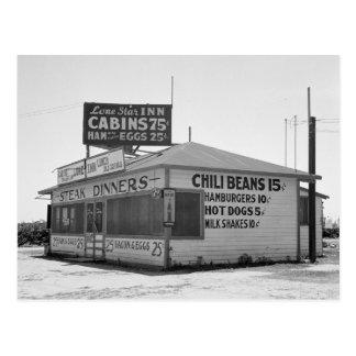 Roadside Diner, 1939 Postcard