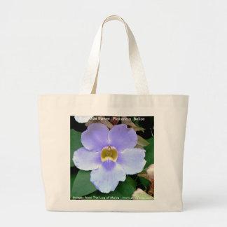 Roadside flower, Placencia, Belize Bag