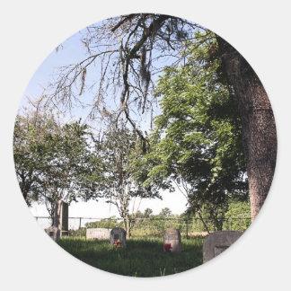 Roadside Graveyard Classic Round Sticker