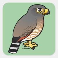 Roadside Hawk Square Sticker