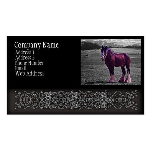 Roadside Horse Business Cards
