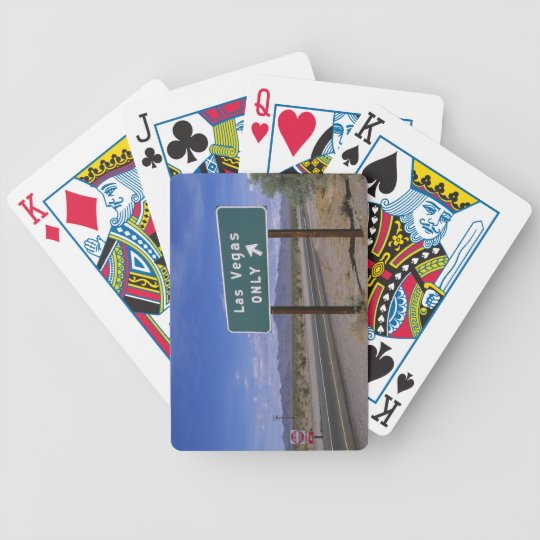 Roadside sign showing direction, California Bicycle Playing Cards