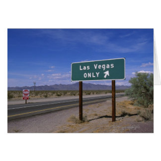 Roadside sign showing direction, California Card