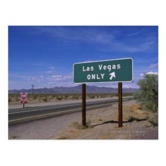 Roadside sign showing direction, California Postcard