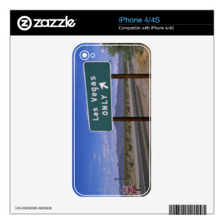 Roadside sign showing direction, California Skins For The iPhone 4