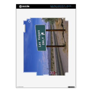 Roadside sign showing direction, California Skin For iPad 3