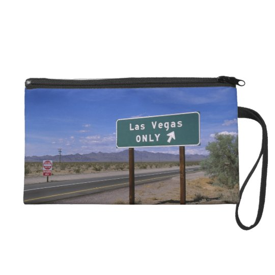 Roadside sign showing direction, California Wristlet Purse