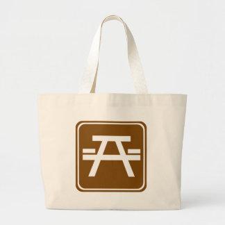 Roadside Table Highway Sign Tote Bag