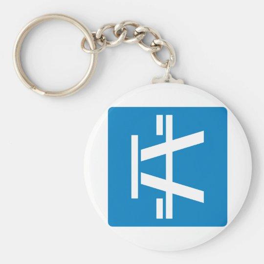 Roadside Table Highway Sign Keychain