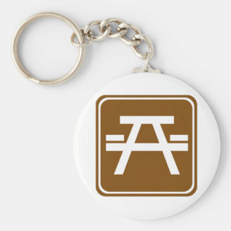 Roadside Table Highway Sign Keychains